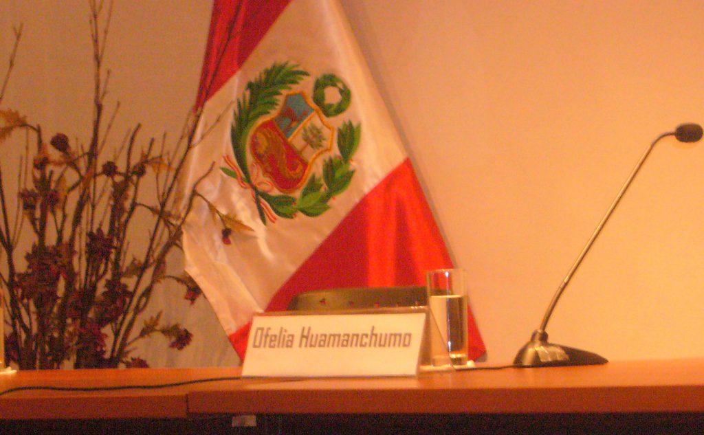 Visitenkarte Ofelia Huamanchumo De La Cuba